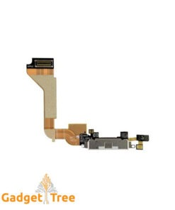 Charging Port Flex Cable with Microphone for iPhone 4 White